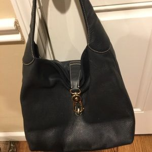 Soft buttery navy leather Dooney and Burke